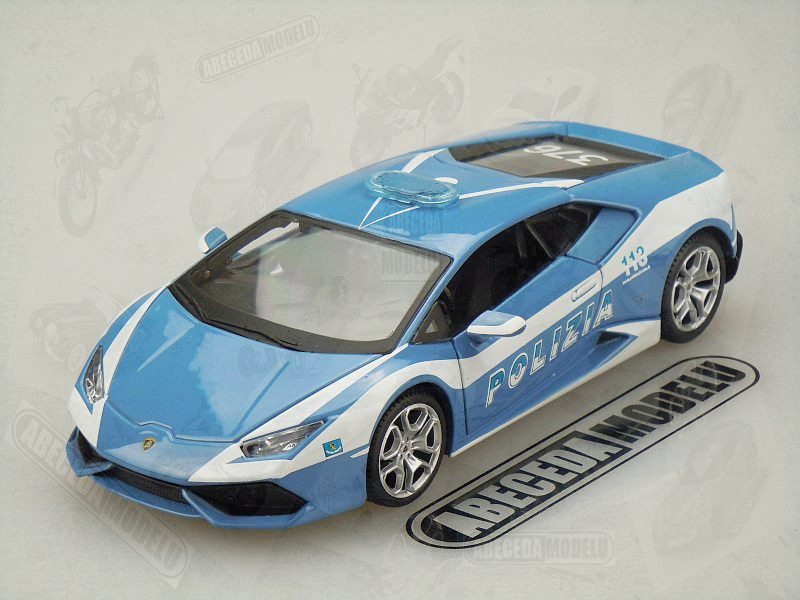 maisto 1 24 lamborghini hurac n lp 610 4 polizia blue code 31511. Black Bedroom Furniture Sets. Home Design Ideas