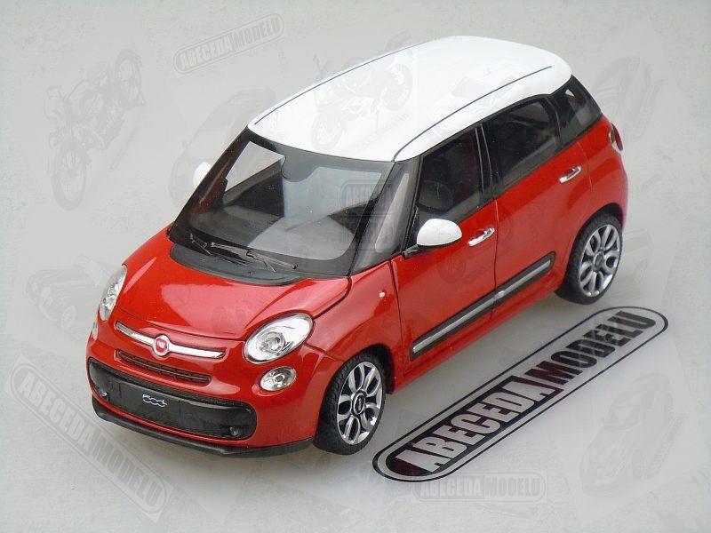 Welly Fiat 500L 2013 1:24 červená