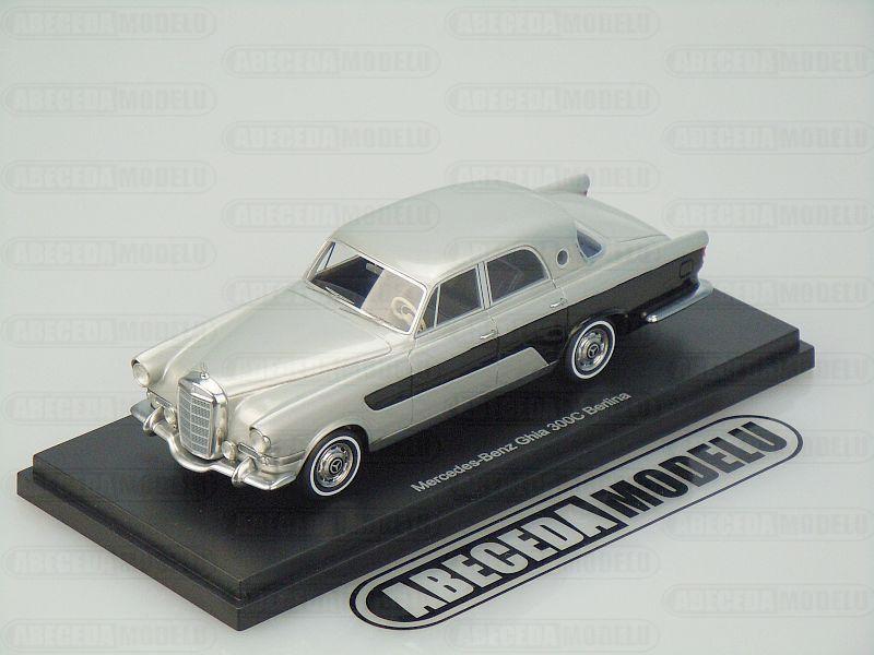 Bos models 1 43 mercedes benz ghia 300c berlina silver for Mercedes benz model codes