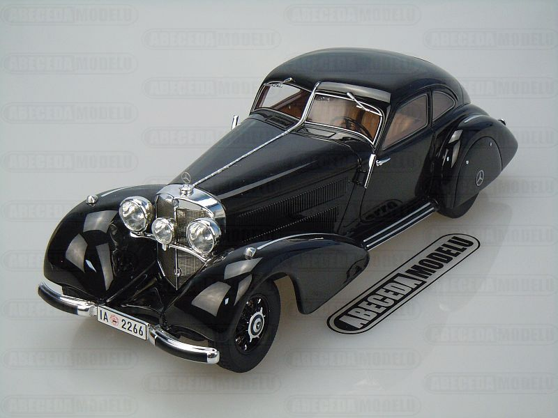 Bos models 1 18 mercedes benz 540k autobahn kurier black for Mercedes benz autobahn