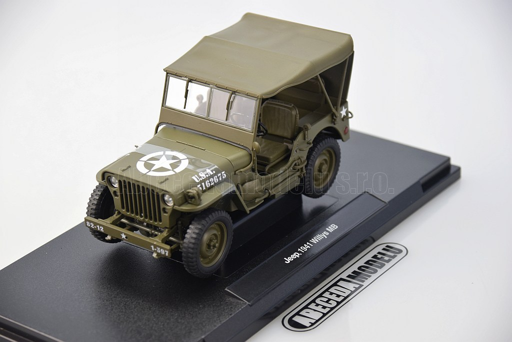 Welly Jeep Willys MB 1941 Army Truck 1:18