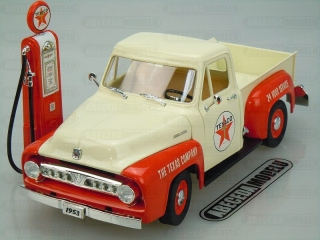 FORD F-100 1953 & VINTAGE GAS PUMP TEXACO