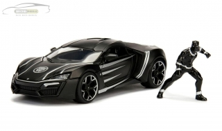 Lykan Hypersport s figurkou Black Panther