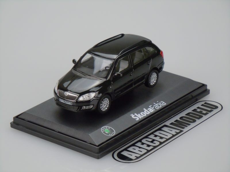 Abrex 1:43 Škoda Fabia Combi II 2010 (black) code Abrex 143AB-017D, modely aut