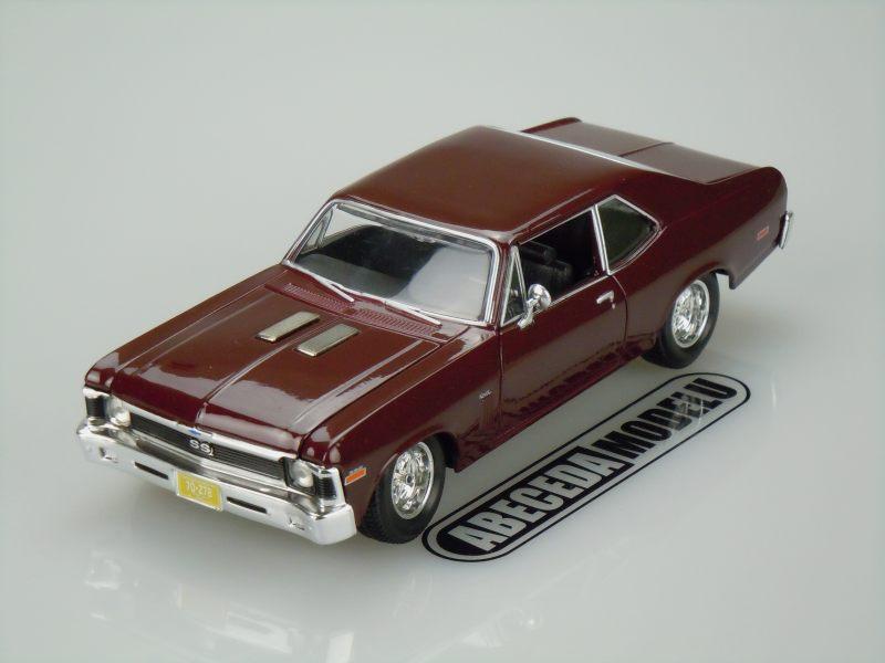 Maisto 1:24 Chevrolet Nova SS Coupe 1970 (burgundy) code Maisto 31262, modely aut