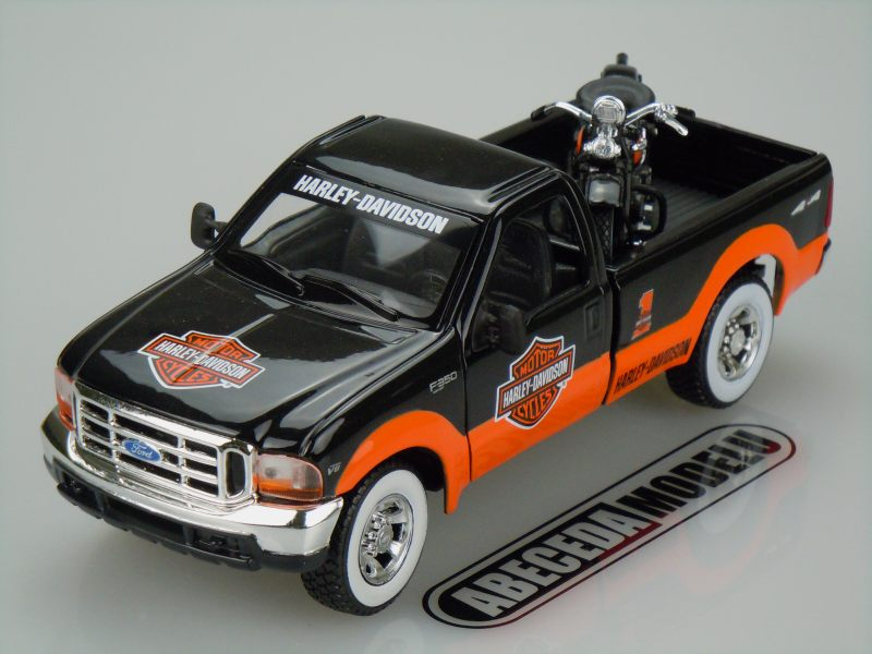 Maisto 1:27 Ford F-350 Super Duty Pickup 1999 H-D (black/orange) 32172, modely aut
