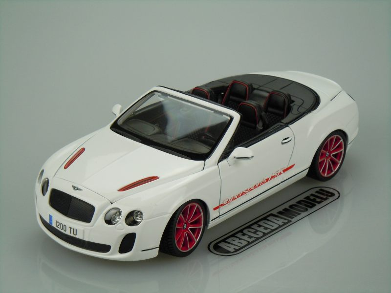 Bburago 1:18 Bentley Continental Supersport ISR (white) code Bburago 11035, modely aut