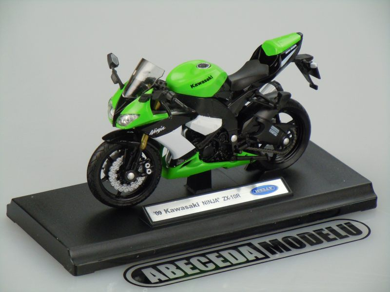 Welly 1:18 Kawasaki ZX-10R Ninja 2009 (green) code Welly 12809, model motocyklu