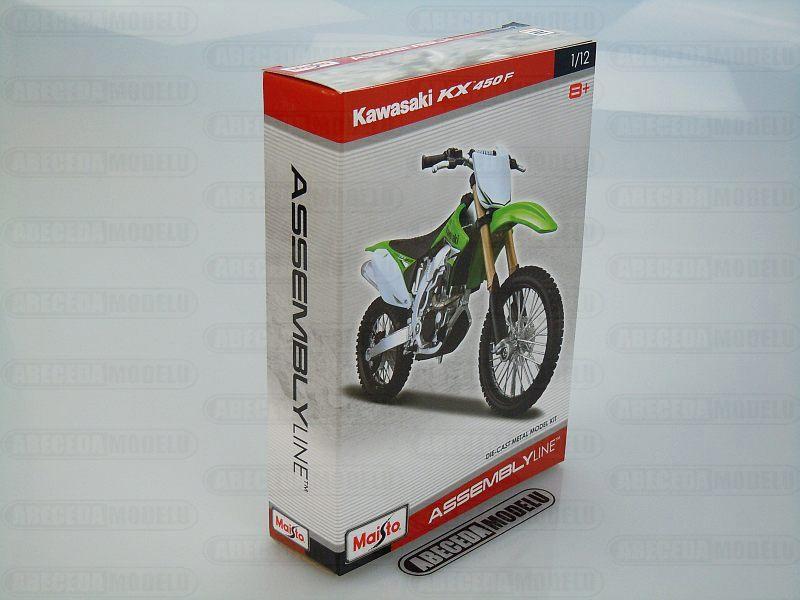 Maisto 1:12 Kawasaki KX 450F Kit (green) code Maisto 39175, model motocyklu