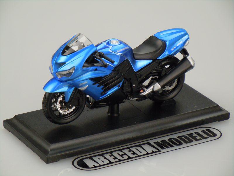 Maisto 1:18 Kawasaki ZX-14R Ninja (blue) code Maisto 12020, model motocyklu