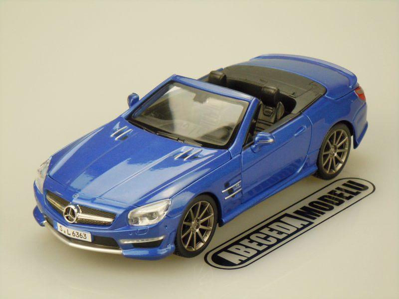 Maisto 1:24 Mercedes Benz SL 63 AMG Roadster (blue) code Maisto 31503, modely aut