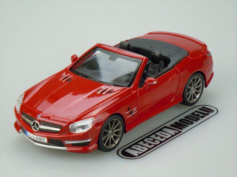 Maisto 1:24 Mercedes Benz SL 63 AMG Roadster (red) code Maisto 31503, modely aut