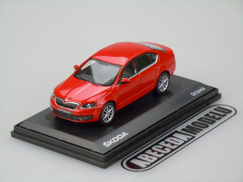 Abrex 1:43 Škoda Octavia III (red) code Abrex 143AB-026B, modely aut