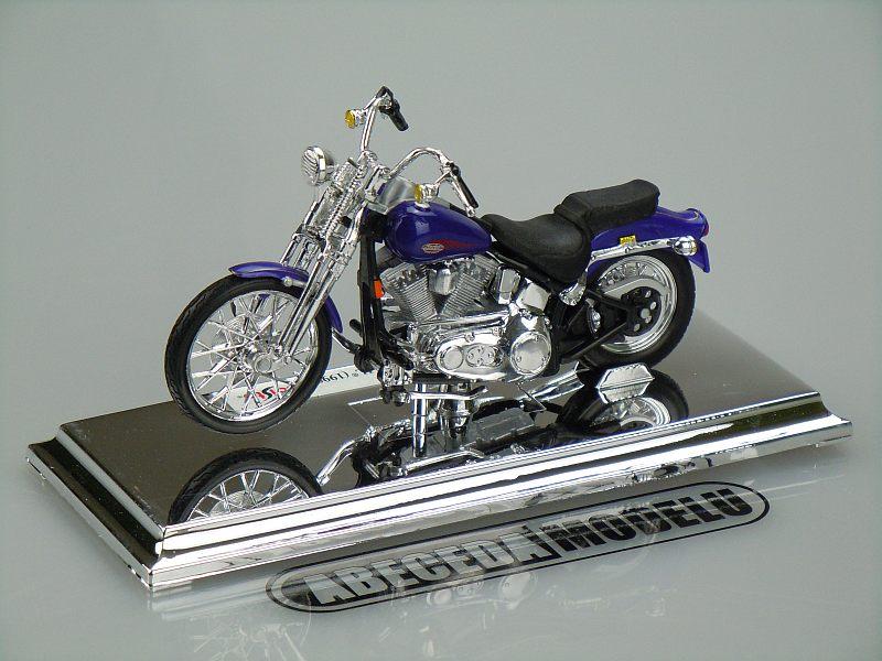 Maisto 1:18 Harley Davidson FXSTS Springer Softail 1999 (blue) code Maisto 06136, model motocyklu