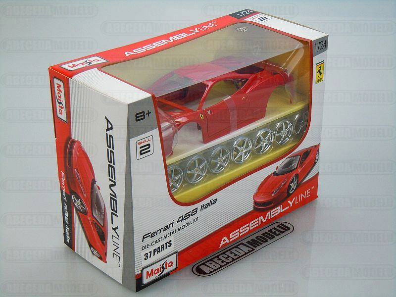 Maisto 1:24 Ferrari 458 Italia Kit (red) Assembly Line code Maisto 39113, modely aut