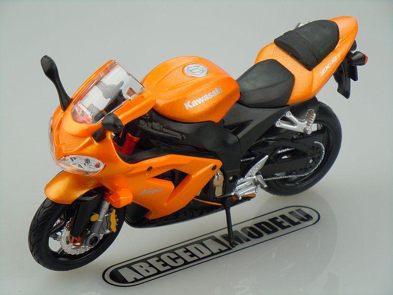 Maisto 1:12 Kawasaki ZX-10R Ninja (orange) code Maisto 31105, model motocyklu