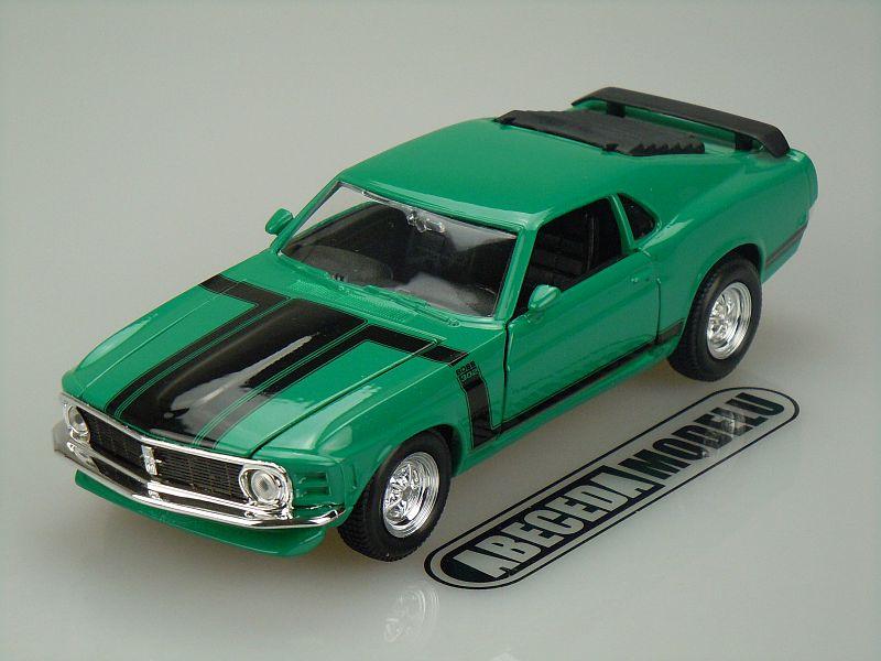 Maisto 1:24 Ford Mustang Boss 302 1970 (green) code Maisto 31943, modely aut