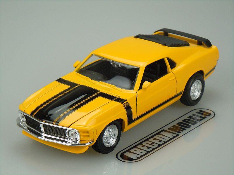 Maisto 1:24 Ford Mustang Boss 302 1970 (yellow) code Maisto 31943, modely aut
