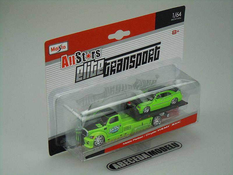 Maisto 1:64 Maisto Flatbed / Chrysler Hemi 300C code Maisto 15055, modely aut