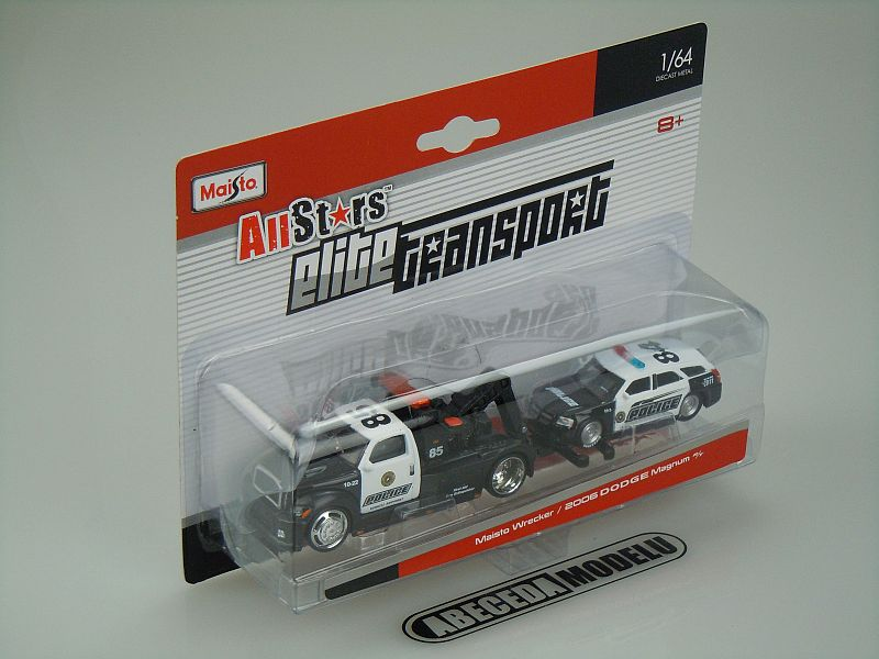 Maisto 1:64 Maisto Wrecker / Dodge Magnum R/T 2006 code Maisto 15055, modely aut