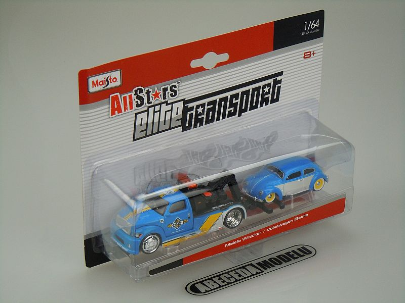 Maisto 1:64 Maisto Wrecker / VW Beetle code Maisto 15055, modely aut