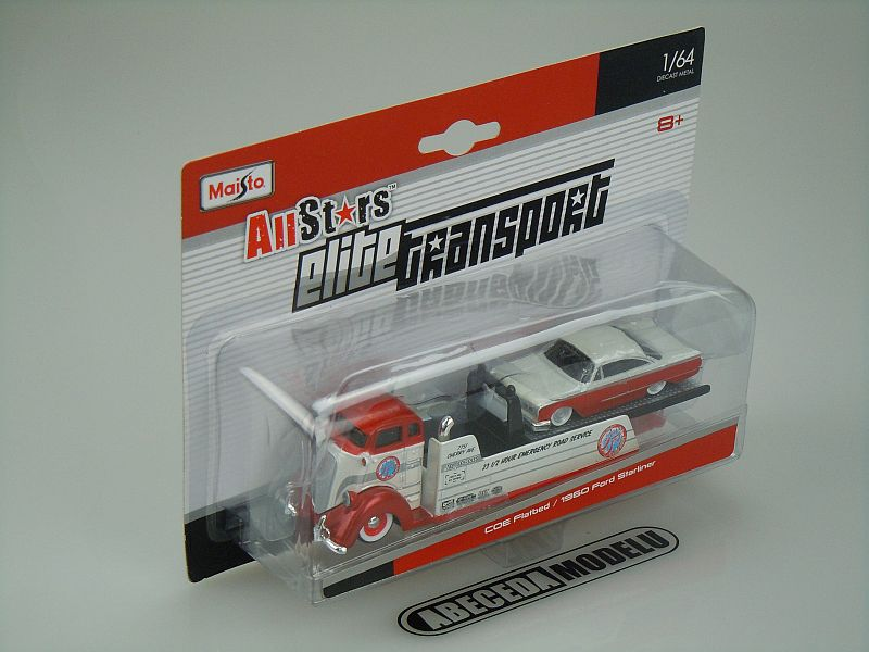 Maisto 1:64 Coe Flatbed / Ford Starliner 1960 code Maisto 15055, modely aut