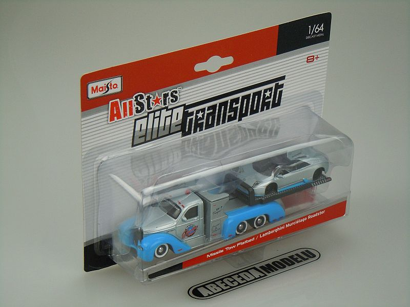 Maisto 1:64 Missile Tow Flatbed / Lamborghini Murcielago Roadster code Maisto 15055, modely aut
