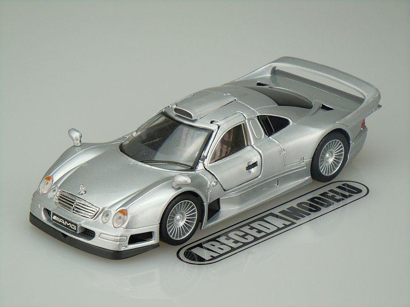 Maisto 1:26 Mercedes Benz CLK-GTR (silver) code Maisto 31949, modely aut