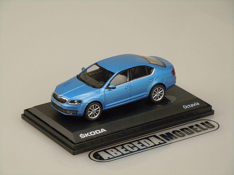 Abrex 1:43 Škoda Octavia III (blue) code Abrex 143AB-026KM, modely aut