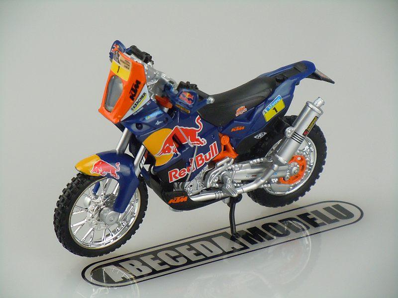 Bburago 1:18 KTM 450 Rally Red Bull (Dakar Rally) code Bbburago 51071, model motocyklu