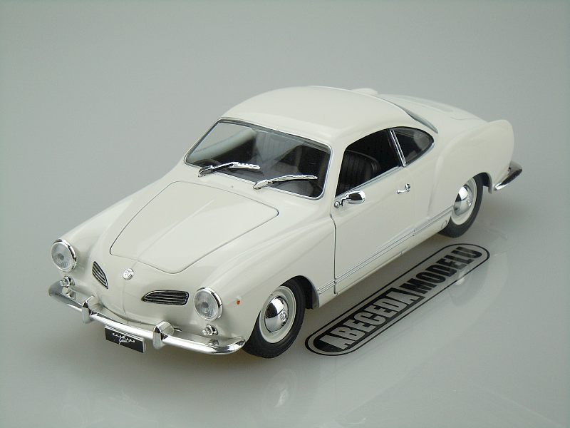 Volkswagen Karmann Ghia Coupe (white) code Welly 18023, modely aut