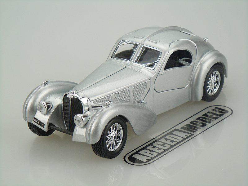 Bburago 1:24 Bugatti Atlantic (silver) code Bburago 22092, modely aut
