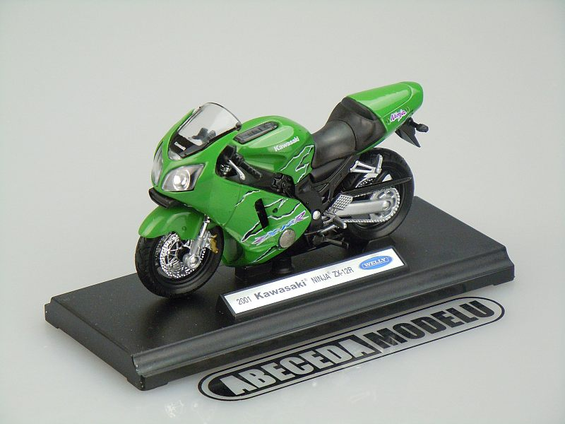 Welly 1:18 Kawasaki ZX-12R Ninja 2001 (green) code Welly 12167, model motocyklu