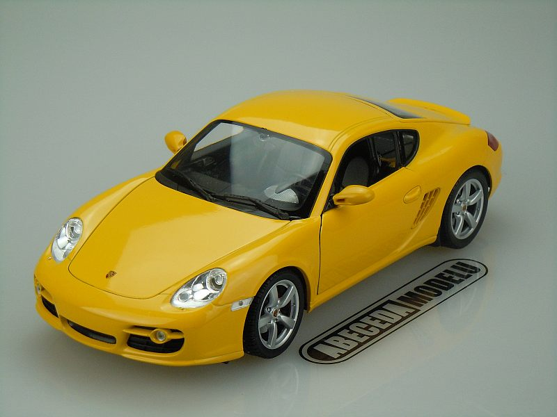 Welly 1:18 Porsche Cayman S (yellow) code Welly 18008, modely aut