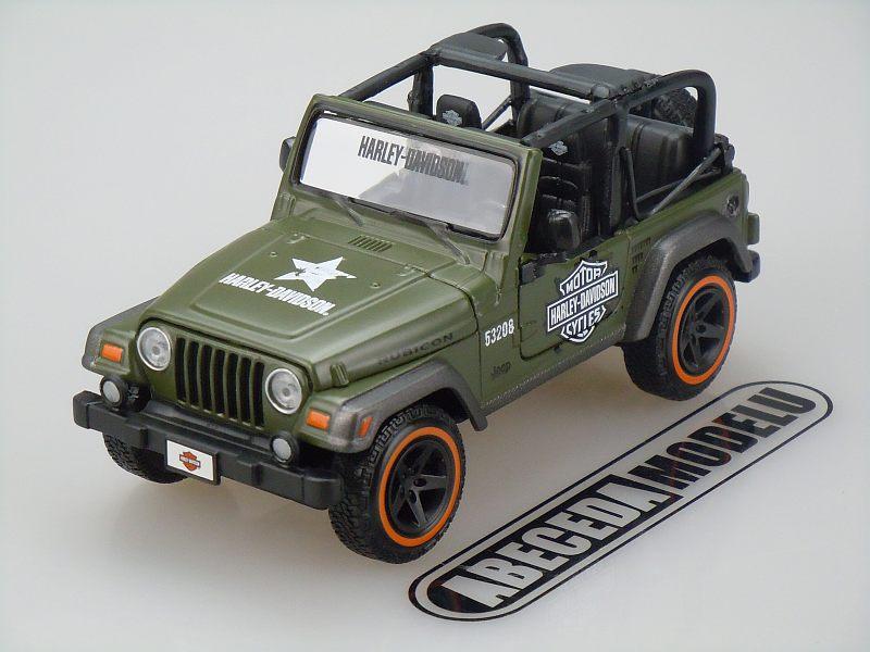Maisto 1:27 Jeep Wrangler Rubicon H-D (green) code Maisto 31245, modely aut