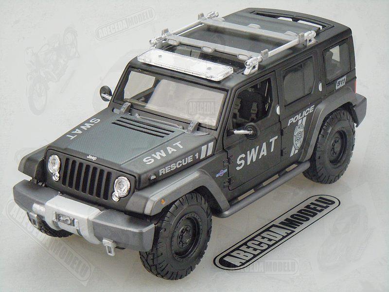 Maisto 1:18 Jeep Rescue Concept Police Swat (black) Premiere Edition code Maisto 36211, model automobilu