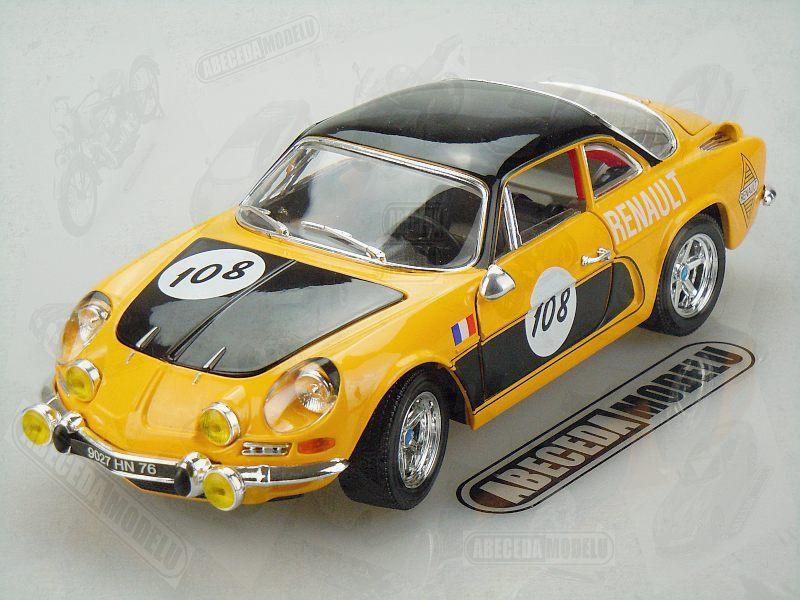 Bburago 1:18 Renault Alpine A110 1600S 1971 (yellow) code Bburago 12033, modely aut