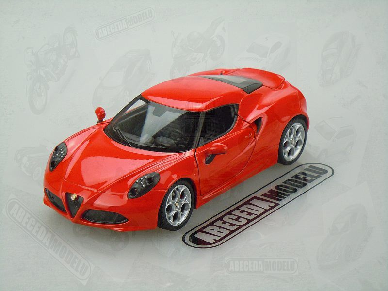 Welly 1:24 Alfa Romeo 4C (red) code Welly 24048, modely aut