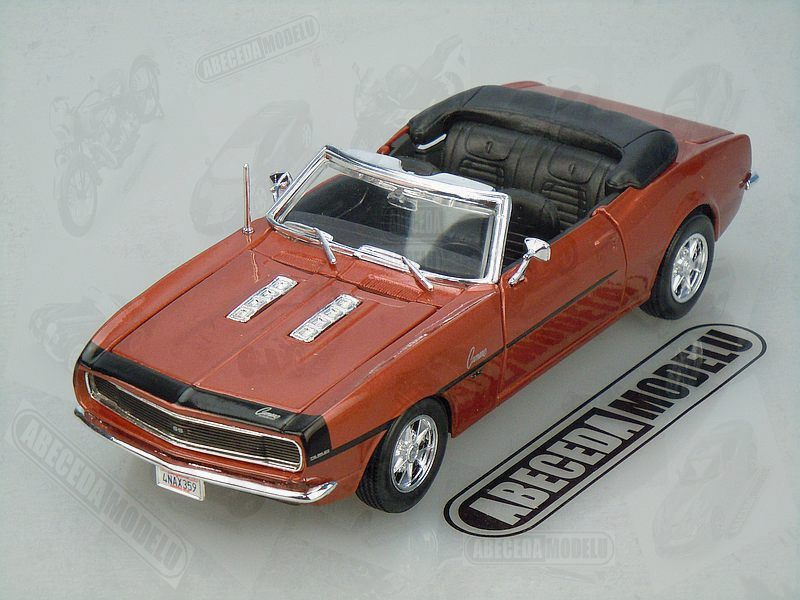 model automobilu Chevrolet Camaro SS 396 Convertible 1968 Maisto