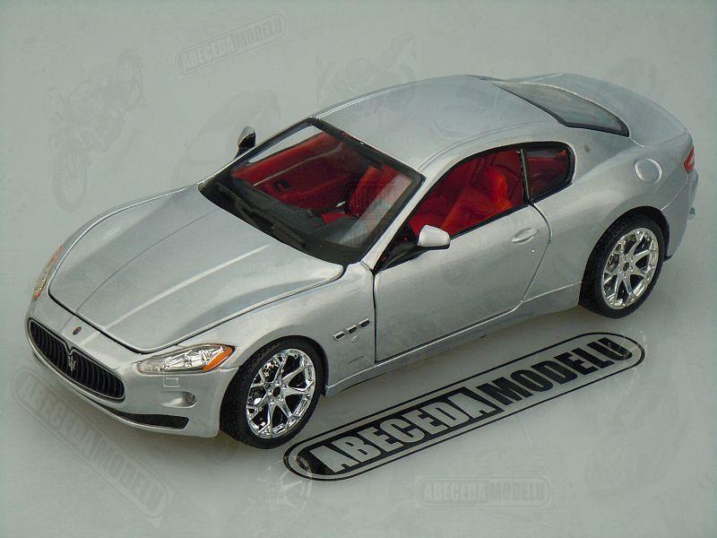 Bburago 1:24 Maserati Gran Turismo (silver) code Bburago 22107, modely aut