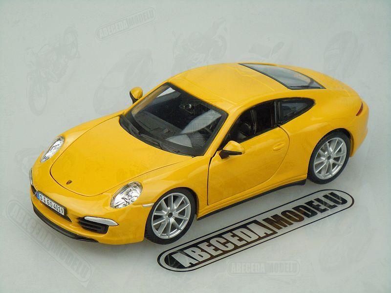 Bburago 1:24 Porsche 911 Carrera S (yellow) code Bburago 21065, modely aut