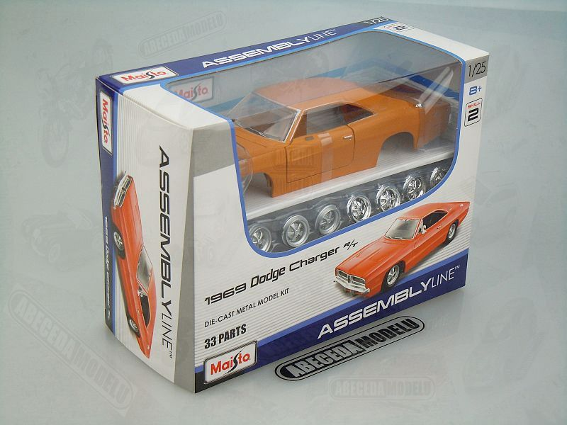 Maisto 1:24 Dodge Charger R/T 1969 KIT (orange) code Maisto 39256, modely aut