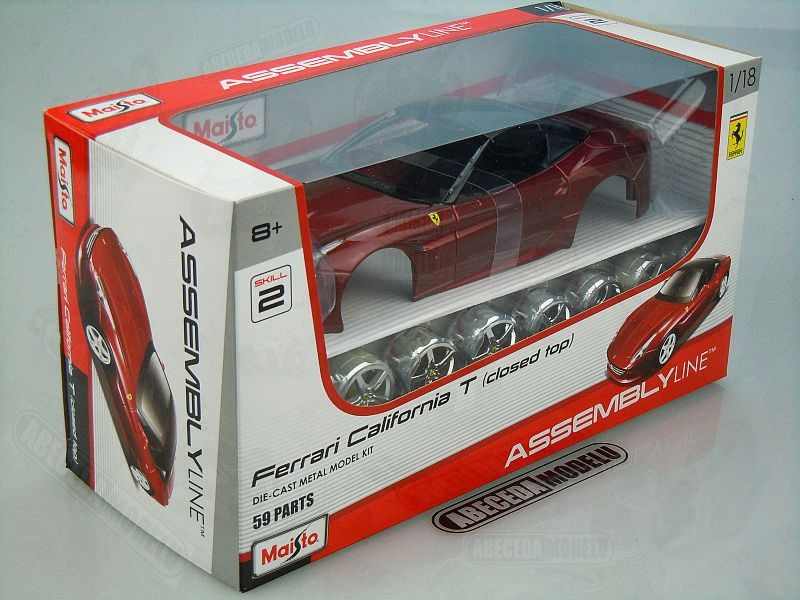 Maisto 1:18 Kit Ferrari California T (red) code Maisto 39899, modely aut