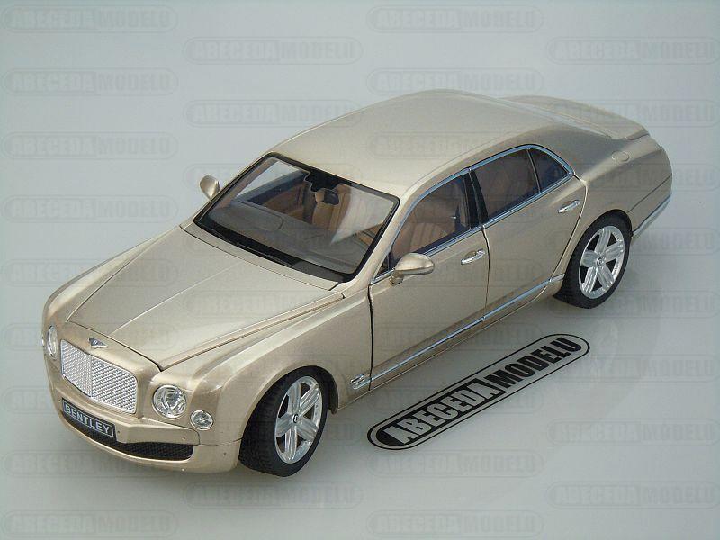 Rastar 1:18 Bentley Mulsanne (gold) code Rastar 43800, modely aut