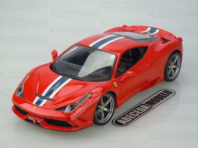 Bburago 1:18 Ferrari 458 Speciale (red) code Bburago 16002, modely aut