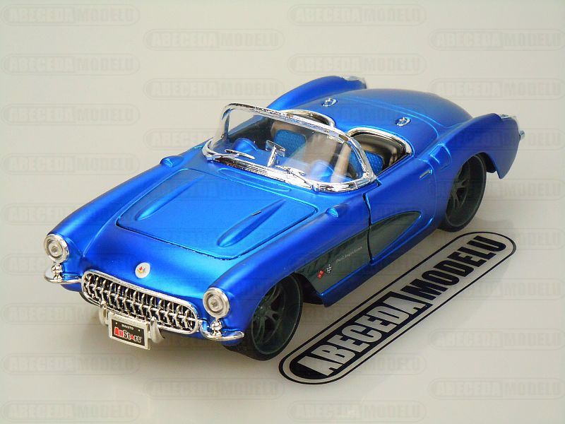 Maisto 1:24 Chevrolet Corvette 1957 CUstom Shop (blue) code Maisto 31323, model automobilu