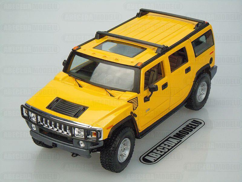 Maisto 1:18 Hummer H2 SUV 2003 (yellow) code Maisto 36631, modely aut