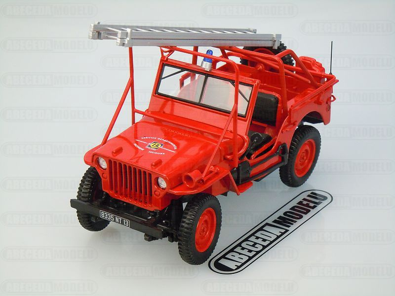 Norev 1:18 Jeep Fire Department Vehicle 1988 (red) code Norev 189012, modely aut