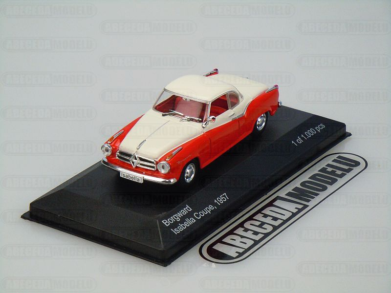 Whitebox 1:43 Borgward Isabella Coupe 1957 (red/white) code WBS128, modely aut