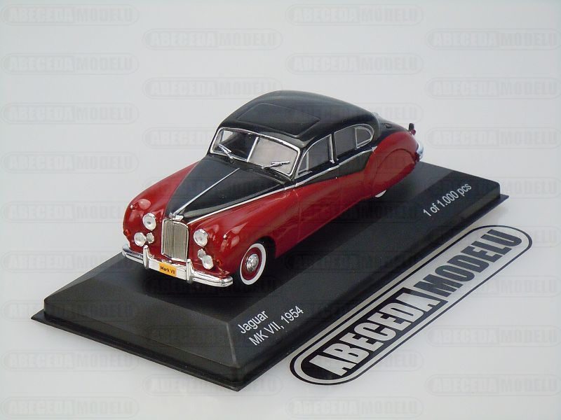 Whitebox 1:43 Jaguar MK VII 1954 (red/black) code Whitebox WBS131, modely aut